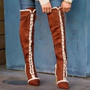 NWOT ShoeDazzle Paleta Over-the-Knee Boots